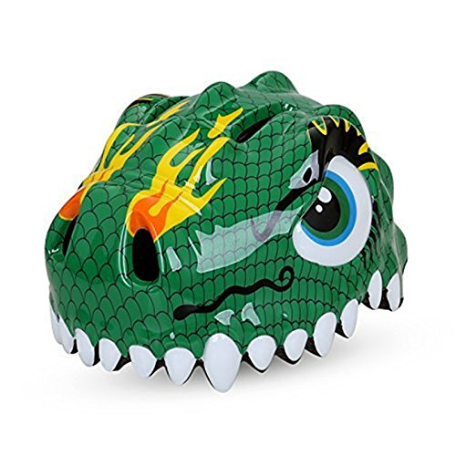 Dinosaur Green Design Bicycle Cycle Cycling Bike Helmets Protective Gear for Toddler Child Children Kids Safety Protection,Ultralight Breathable Sport Bike Helmet for Youth Boy Girl Student Pupil For Sale