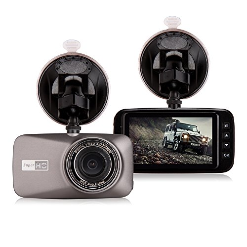 "Car Camcorder,GBB 2.7"" LCD HD 1080P Car Vehicle Driving DVR Black Box 4G Wide Angel Lens Digital Dash Cam Camera Video Recorder with G-sensor Parking Motion Detection Loop Recording and SOS Function"