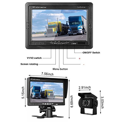 Istrong Backup Camera And 7 Monitor Kit System For Car