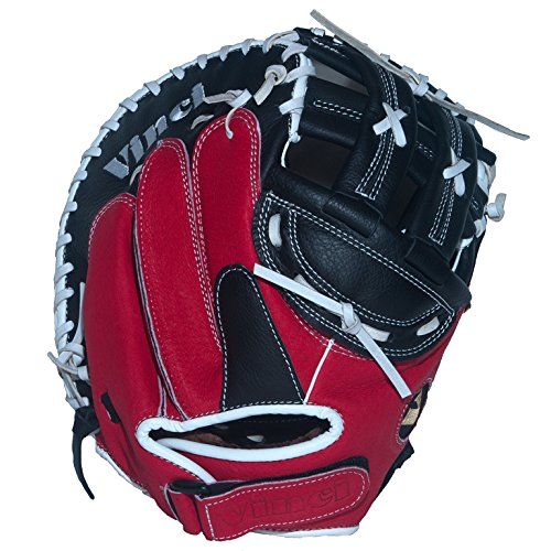 Vinci Fortus 32.5'' Fast Pitch Catchers Mitt Red/Black Right Handed Thrower by VINCI