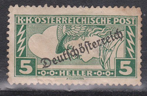 Austria Slovenia Stamp K K Osterreichische Post 5 Heller Lighting Bolts Postage Stamp With Overprint