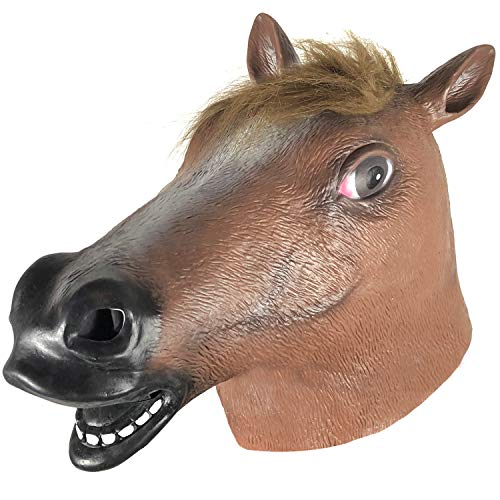 (Horse Head Mask Larger Holes Design Without Odor,Suitable for Kids & Adults Suitable for Halloween or Any Patry)