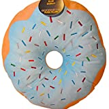 Expressions Fun and Soft Novelty Food Throw Pillows (Blue Sprinkle Donut)