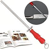 Knife Sharpener Steel, Knife Sharpener, Kitchen Knife Sharpener, Honing Steel, Sharpening Steel, Afilador de Cuchillos, Ebook Included-10 Recipes for meat