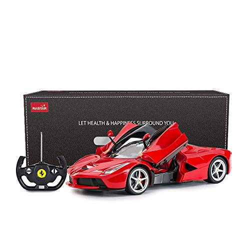(RASTAR RC Car | 1/14 Scale Ferrari LaFerrari Radio Remote Control R/C Toy Car Model Vehicle for Boys Kids, Red, 13.3 x 5.9 x 3.3 inch )