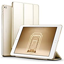 ESR iPad Air 2 Case, Smart Case Cover [Synthetic Leather] Translucent Frosted Back Magnetic Cover with Auto Sleep/Wake Function [Light Weight] (Champagne Gold)?