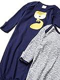 Gerber Baby 4-Pack Gown, Blue Fox, Preemie