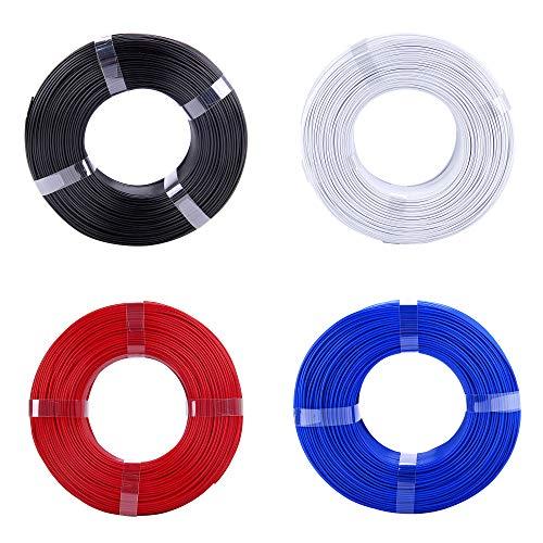 eSUN 1.75mm PLA PRO (PLA+) 3D Printer Filament Refill Pack (4 Rolls), Black, Cool White, Blue, Fire Engine Red, Refills, 1KG Each roll, Refill -