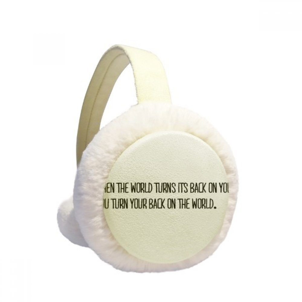 Turn Your Back To The World Winter Earmuffs Ear Warmers Faux Fur Foldable Plush Outdoor Gift