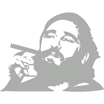 Fidel castro wall sticker stickers t mk1212 silver 57x75 cm