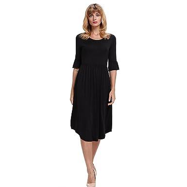 MEI&S Frauen Jahrgang 1/2 Arm elegante Prom Ball Kleid Langes Kleid ...