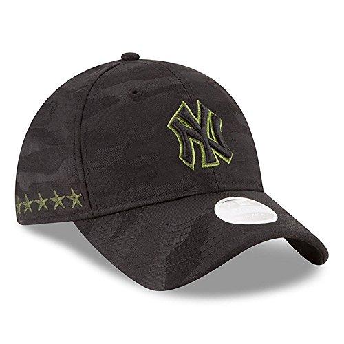 Yankees Camo - Women 's Authentic New York Yankees Memorial Day 9TWENTY Adjustable Hat - Black/Camo
