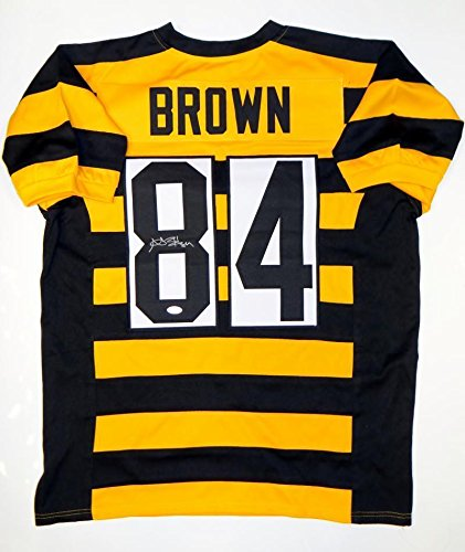 88521a756 Autographed Antonio Brown Jersey -  8 Bumble Bee Pro Style Witnessed Auth -  JSA Certified