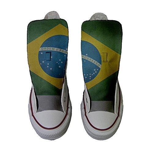 Scarpe Converse All Star Alte Personalizzate scarpe Artigianali Con Bandiera Brasile