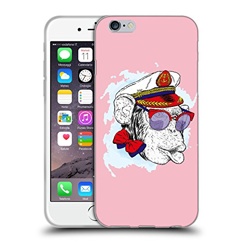 GoGoMobile Coque de Protection TPU Silicone Case pour // Q05000630 Capitaine singe Rose // Apple iPhone 6 4.7""