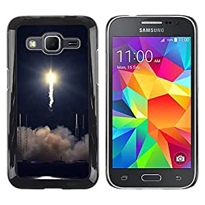 Paccase / SLIM PC / Aliminium Casa Carcasa Funda Case Cover - Rocket takeoff - Samsung Galaxy Core Prime SM-G360