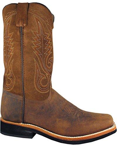 Smoky Mountain Mænds Boonville Cowboy Støvler Firkantet Tå - 4028 Brun TQCdQX