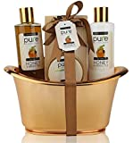Honey & Green Tea Exclusive Spa Gift Basket for Natural Skin- Body Hydration & Rejuvenation! Ideal Birthday Gift & Thank You Gift