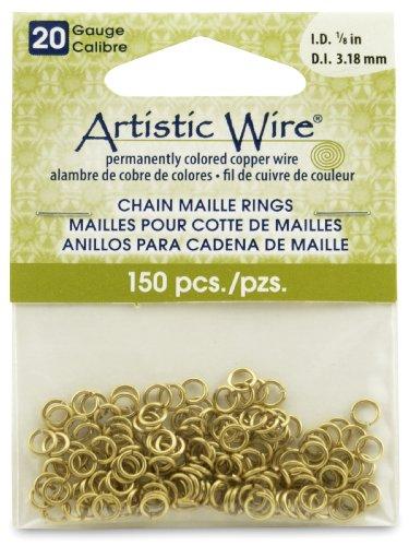 Artistic Wire 20-Gauge Non-Tarnish Brass Chain Maille Rin...