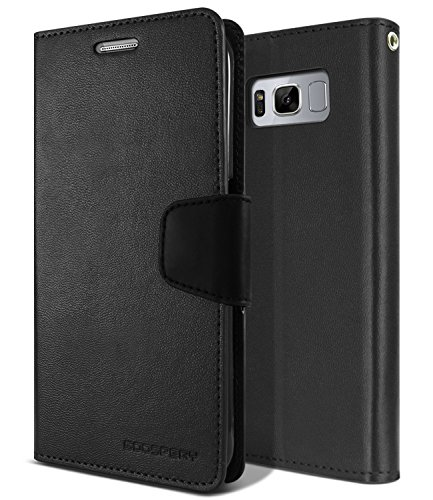 Galaxy S8+[PLUS] Wallet Case, [Secure Clasp] MERCURY Sonata Diary [Drop Protection] PU Leather Case [Shock Absorption] TPU Casing [Card & Cash Holders] Stand View Cover for Samsung Galaxy S8 PLUS