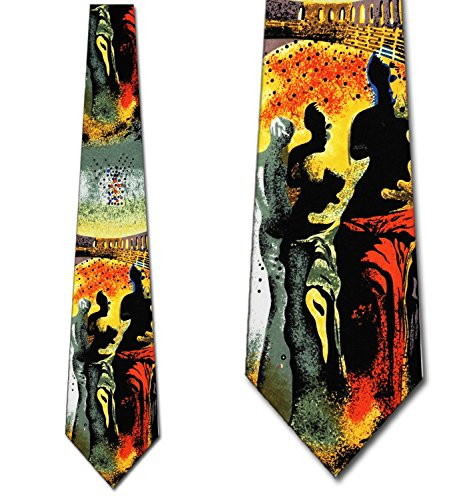 Salvador Dali tie Hallucinogenic tie mens necktie by Three Rooker Art Necktie