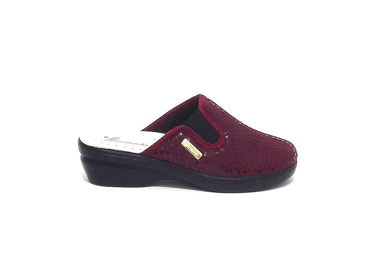 Susimoda pantofola donna 6749, econabuk bordò A7102  -
