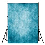 FUT Ocean Blue Vinyl Backdrop Background Ideal for Wedding, Party, Newborn, Children, and Product Photography, Video Backdrops or Displays 5x7ft