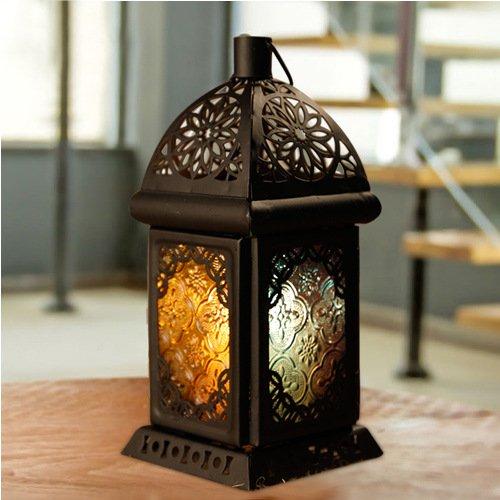 Creativo romantico classico Falls metro Gift lanterna ornamenti in ferro battuto candelieri nero