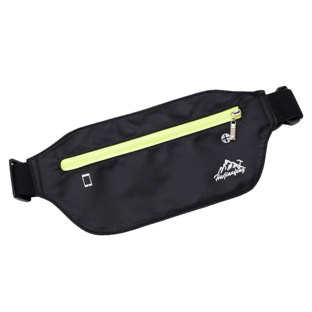 Inkach Waist Pack Bags - Womens Outdoor Sport Running Fanny Packs with Headphone Hole Belly Waist Hip Packs (Black)