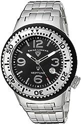 Swiss Legend Men's 21848P-11-SB Neptune Force Analog Display Swiss Quartz Silver Watch