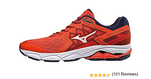 Mizuno Wave Ultima 10, Zapatillas de Running para Hombre, Rojo (Cherrytomato/White/Evening Blue 02), 50 EU: Amazon.es: Zapatos y complementos