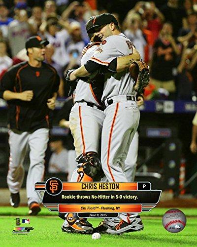 San Francisco Giants No Hitters - Chris Heston San Francisco Giants MLB No Hitter Celebration Photo (Size: 8
