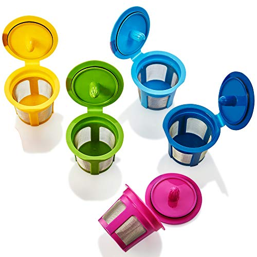 GoodCups 5 Reusable K Cups Refillable KCup Coffee Filters Accessories for Keurig 2.0 K200, K250, K300, K350, K400, K450, K460, K500, K550, K560 and all 1.0 Brewers