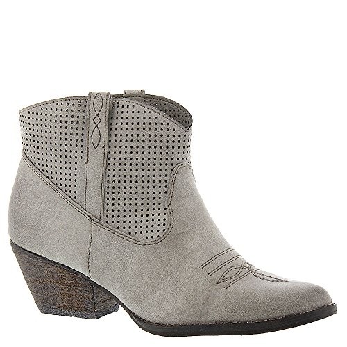 Very Volatile Women's Mishka Western Boot, Grey, 6.5 B US (Dress Leather Womens Boots)
