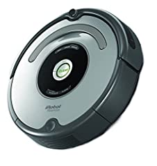 Roomba 650 does the vacuuming for you. The robot utilizes AeroVac Technology, maximizing air flow through its cleaning head to pull hair and debris off the brushes and into the bin evenly. Perfect for homes with pets or without, Roomba cleans...