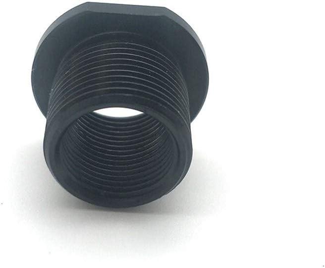 FUBANGBM Thread Adapter Black OD 0.825 Flats 0.750 for 1//2 X 28 ID to 5//8 X 24 OD