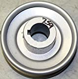 Rotary 759 3'' Cast Steel V Idler Pulley P-313 3/4'' CH 3/16'' Keyway