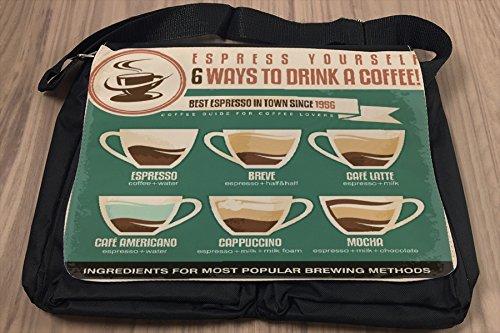 Borsa Tracolla Coffee Cafe Bar bere il caffè Stampato