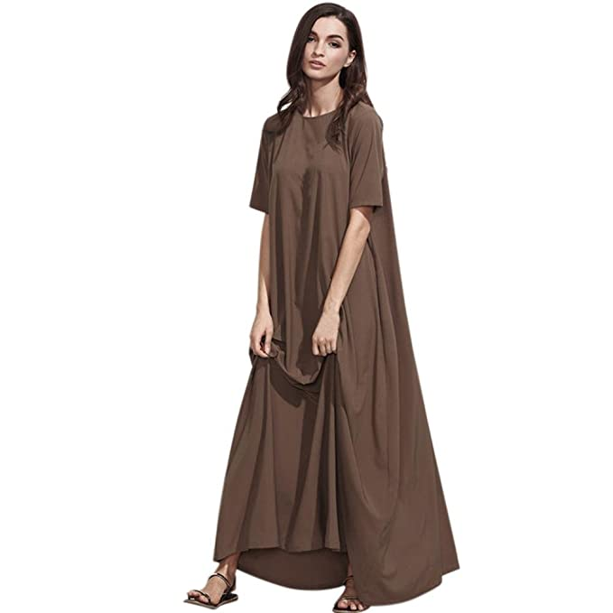 Ansenesna Vestido Playa Mujer Largo Verano Fiesta 2018 Corto Talla Grandes Vestido Suelto Cuello En V