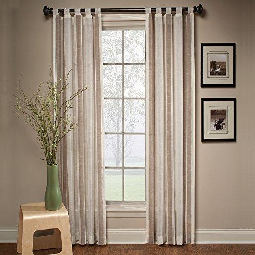 SKL Home by Saturday Knight Ltd.  Delray Stripe Panel, Cocoa, 50 inches x 84 inches ()