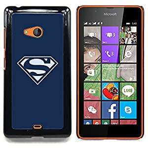 SUPERHERO LOGO S Caja protectora de pl¨¢stico duro Dise?ado King Case For Microsoft Nokia Lumia 540 N540