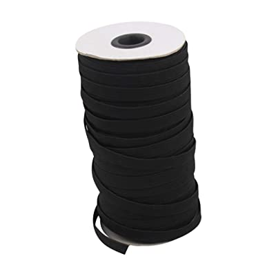 Kanku Elastic Bands for Face Width Elastic Cord Crafts Elastic Rope (Black): Clothing