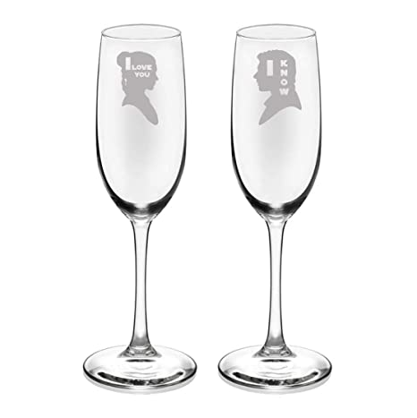 Amazon Brindle Southern I Love You I Know Champagne Flutes