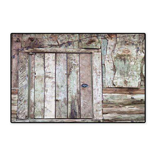 Rustic Door Mats for Inside Old Rustic Barn Door Cottage Country Cabin Theme Rural Mystic Entrance of Home Floor mat Bath Mat 20