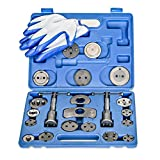 [23 Piece] Heavy Duty Disc Brake Caliper Tool Set and Wind Back Kit for Brake Pad Replacement | Fits Most American, European, Japanese Makes/Models