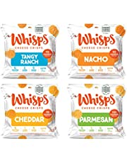 Whisps Parmesan, Cheddar, Nacho, and Tangy Ranch Cheese Crisps 12 Pack Assortment | Keto Snack, Gluten Free, Sugar Free, Low Carb, High Protein | 3 Bags of Each, 0.63oz (12 pack)