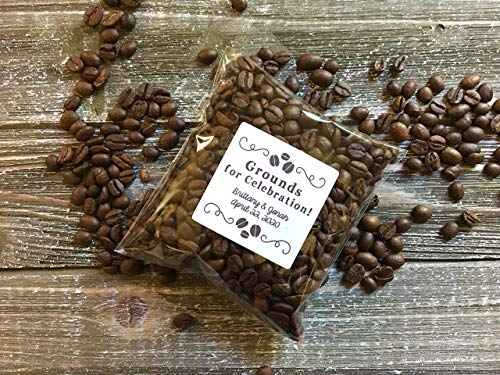 Coffee Bags & Stickers - Personalized Favors for Wedding, Shower or Party - Grounds for Celebration Bridal Blend Coffee Wedding Favors