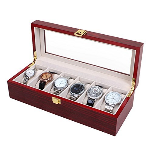 watch display case red - 8
