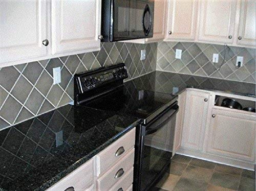 Countertop Paint? No!! Upgrade Counter Tops with Removable Black Marble Granite Bubble Resistant SELF Adhesive PET/PVC Vinyl Film 36'' x 96'' by EZ FAUX DECOR (Image #5)