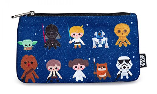 Loungefly Star Wars Baby Characters All Over Print School Pencil Case